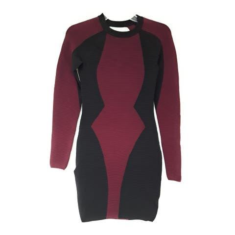 KENDALL + KYLIE Bodycon Illusion Dress, True Navy Multi, S