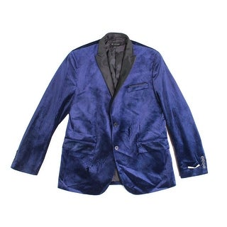 INC NEW Blue Mens Size Large L Two Button Notch-Collar Sports Coat