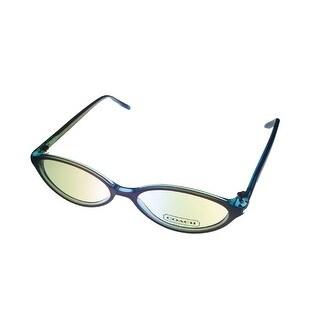 Coach Eyewear Modified Womens Colette Plastic Oval Frame Lavendar