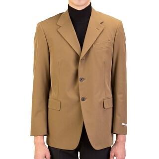 Prada Men's Polyester Three-Button Sportscoat Jacket Brown - 42