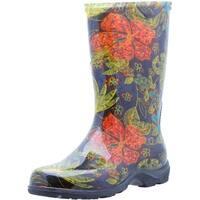 Sloggers 5002BK06 Women's Rain And Garden Boots, Midsummer Black, Size 6