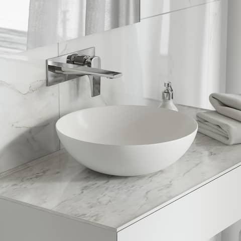 "Classe 16"" Ceramic Sink in Shiny White"