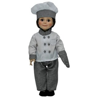 "Chef's Outfit: Hat Jacket Pants shoes Oven Mitt Fits 18"" American Girl Doll Clothes & Accessories"