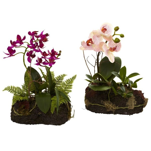 Nearly Natural Orchid Island - Set of 2