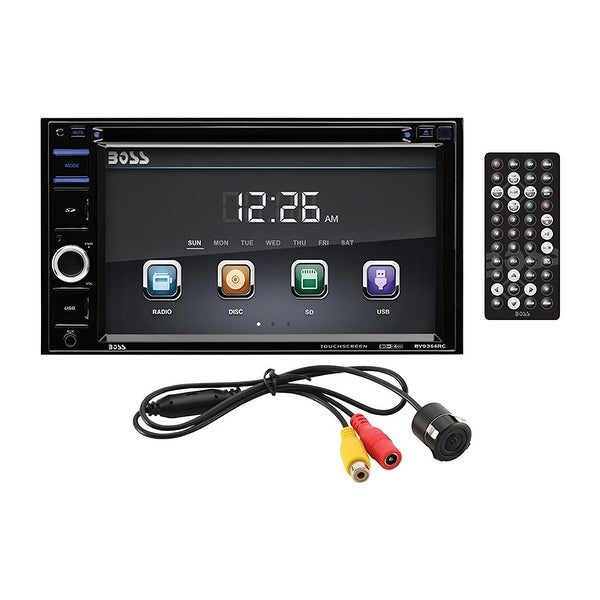 """Boss 6.2"""" Double Din receiver DVD/CD Bluetooth Remote with Backup Camera"""