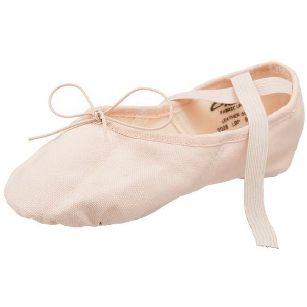 Capezio Women's Canvas Juliet Ballet Shoe,Light Ballet Pink,10.5 M Us