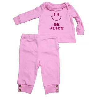 Juicy Couture Baby Girls' 2 Piece Outfit, Be Juicy, 0-3 Months - 0-3 Months