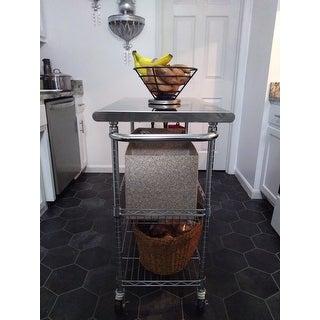 """TRINITY EcoStorage 34"""" Stainless Steel Kitchen Cart"""
