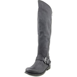 Carlos by Carlos Santana Gramercy Women Round Toe Synthetic Black Knee High Boot