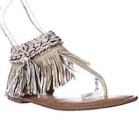 Zigi Soho Francesca Sparkle Fringe Bohemian Flat Sandals