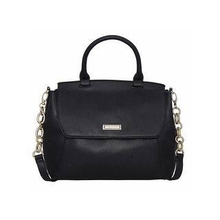 Tahari Womens Changeling Satchel Handbag Faux Leather Pebbled Medium