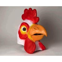 Adult Deluxe Latex Animal Costume Mask - Chicken - Red