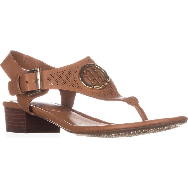 Tommy Hilfiger Kandess Flat Thong Sandals, Medium Natural - 7.5 us