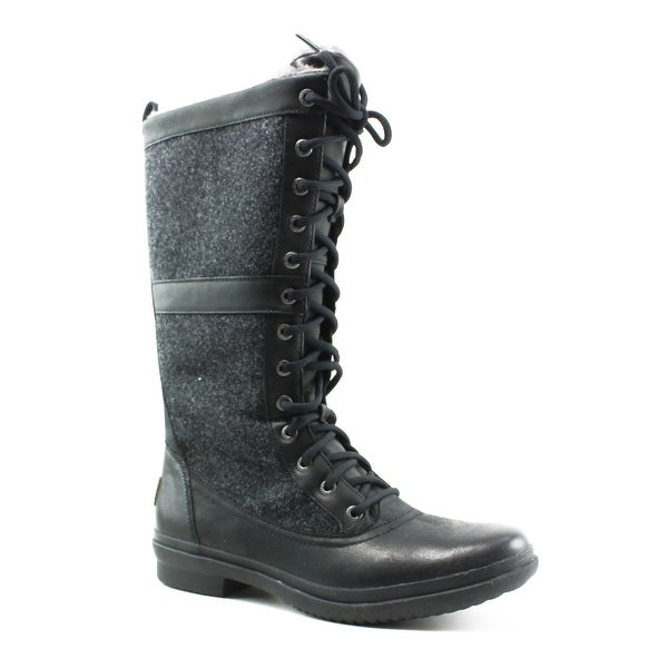 7a292809a22 Shop UGG Womens Elvia Black Snow Boots Size 8 - Ships To Canada ...