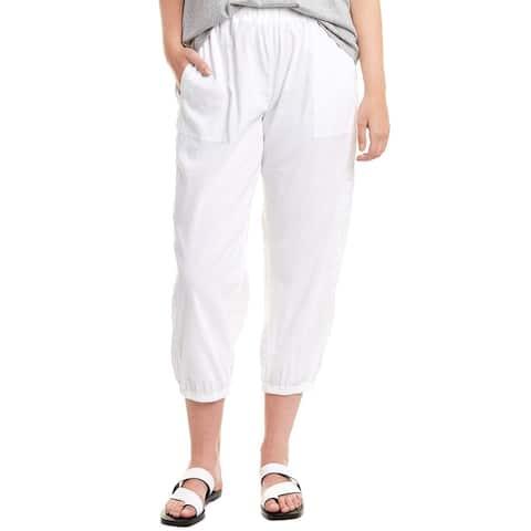 Eileen Fisher Plus Linen-Blend Pant