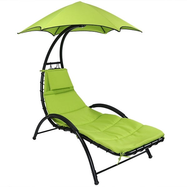 Sunnydaze Chaise Lounge Chair with Canopy and Removable Pad - May Be Color Options Available