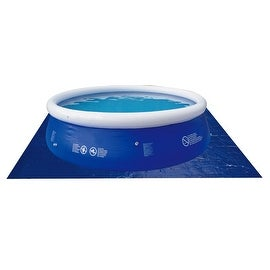 12.8' Square Blue Swimming Pool Ground Cloth