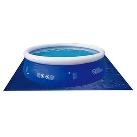 9' Square Blue Swimming Pool Ground Cloth