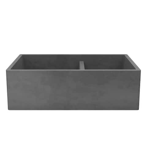 "Farmhouse 33-inch Double Bowl NativeStone Kitchen Sink - 33"" x 21"" x 10.25"""