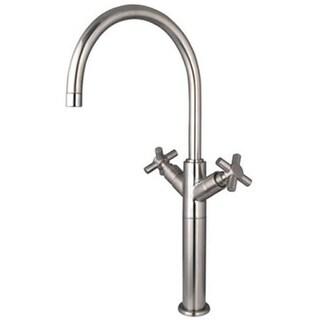 Vilbosch Twin Cross Handles Vessel Sink Faucet Without Pop-Up - Sati