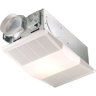 NuTone 665RP 70 CFM 4 Sone Ceiling Mounted HVI Certified Bath Fan with Heater and Light