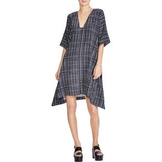 Vince Womens Casual Dress Silk Poncho - xs