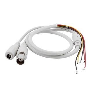 BNC Female 5.5x2.1mm DC Power Plug to 5 Wire CCTV Camera Cable Gray 2pcs