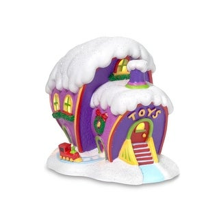 Department 56 Dr Seuss Grinch Who-Ville Toy Store Christmas Porcelain Lighted Building #803394