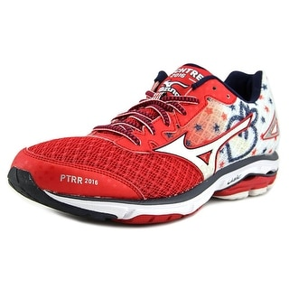 Mizuno Wave Rider 19 Round Toe Synthetic Running Shoe