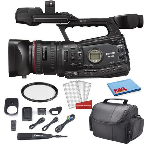 Canon XF300 HD Professional Camcorder 4457B001 Bundle