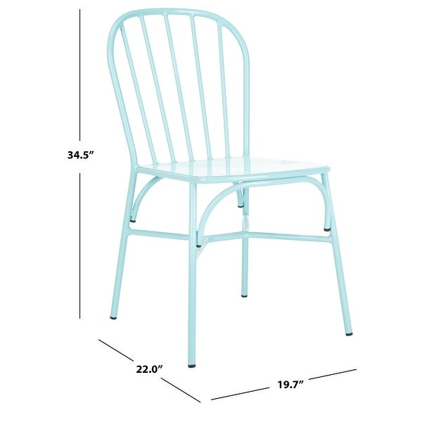 "Safavieh Outdoor Living Everleigh Stackable Side Chair - 19.7""x22""x34.5"""