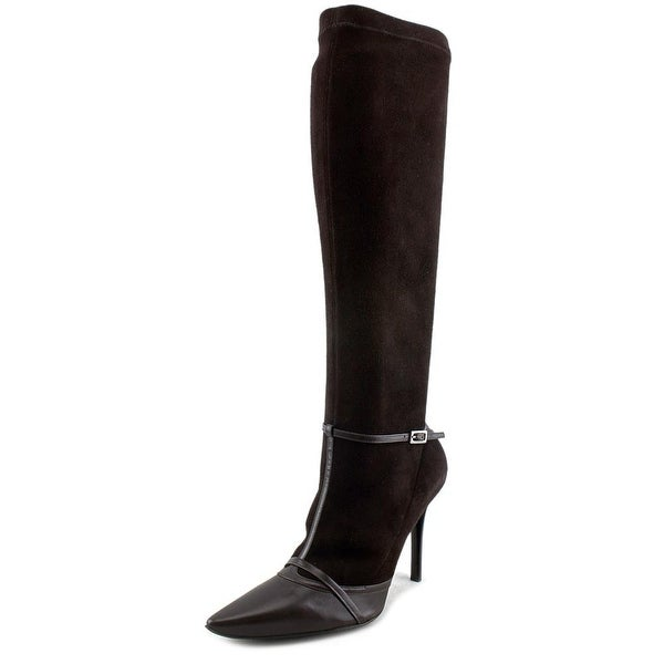Roger Vivier STILAVE MUSELIERE T.100 Women Leather Brown Knee High Boot