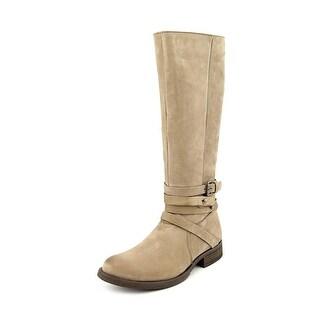 Steve Madden Adriian Women Round Toe Leather Knee High Boot