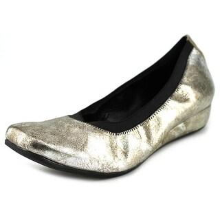 Vaneli Grassy Women W Open Toe Leather Silver Wedge Heel