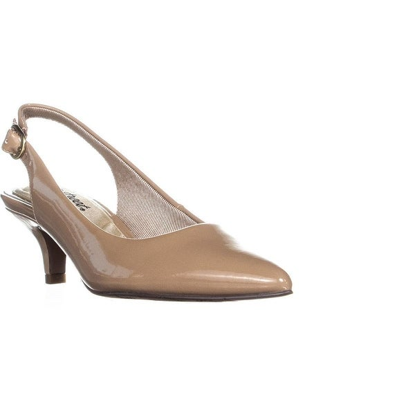 33d345e604 Shop Easy Street Faye Sling Back Pumps, Nude Patent - On Sale - Free ...