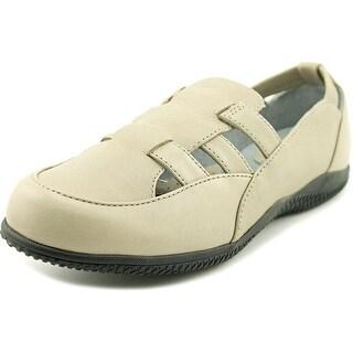 Softwalk Hampton Women Apron Toe Leather Gray Loafer