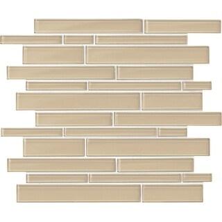 Daltile AMLNRANMSL Amity - Random linear Mosaic Wall Tile - Smooth Glass Visual - N/A