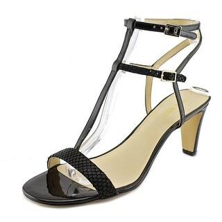 Nine West Dacey Women Open Toe Leather Black Sandals