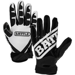 Battle Sports Science Receivers Ultra-Stick Football Gloves - Black/White