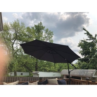 Stanley Outdoor 11.4-foot Steel Canopy Umbrella by Christopher Knight Home