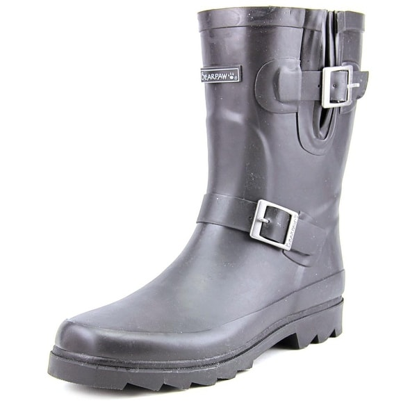 Bearpaw Charlie Women Round Toe Synthetic Black Rain Boot
