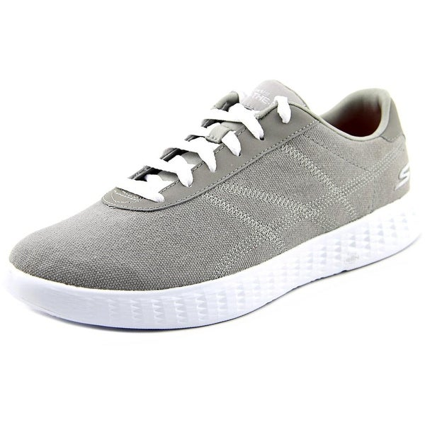 Skechers On The Go Glide Sprint Women Round Toe Canvas Gray Sneakers