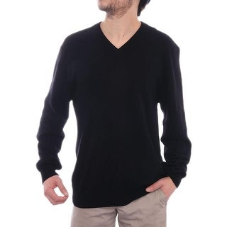 Qi New York Long Sleeve V-Neck Sweater Men Regular Sweater Top