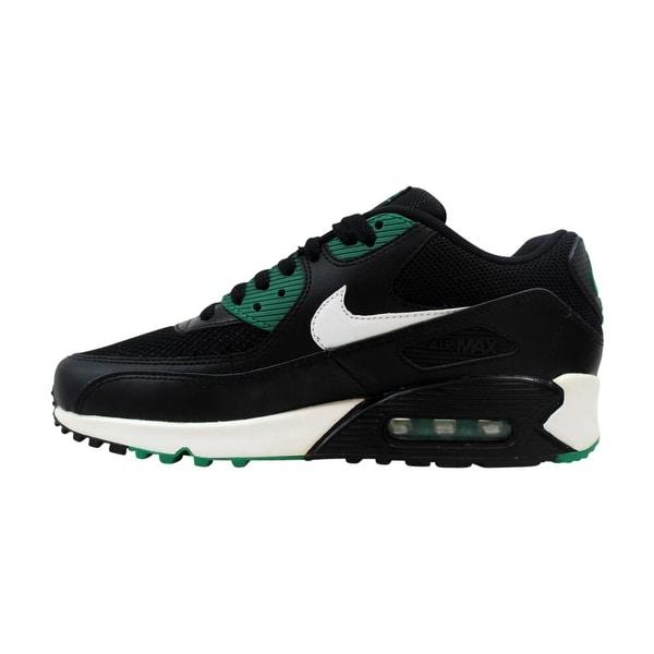 Air Max 90 Essential Black White Lucid Green Trainer Nike