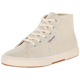 SUPERGA Womens 2095 Metallic Linen Canvas Hight Top Pull On Fashion Sneakers - 10
