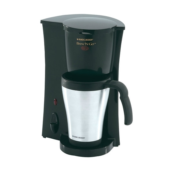 Black & Decker DCM18S Brew 'n Go Personal Coffee Maker, Stainless Steel