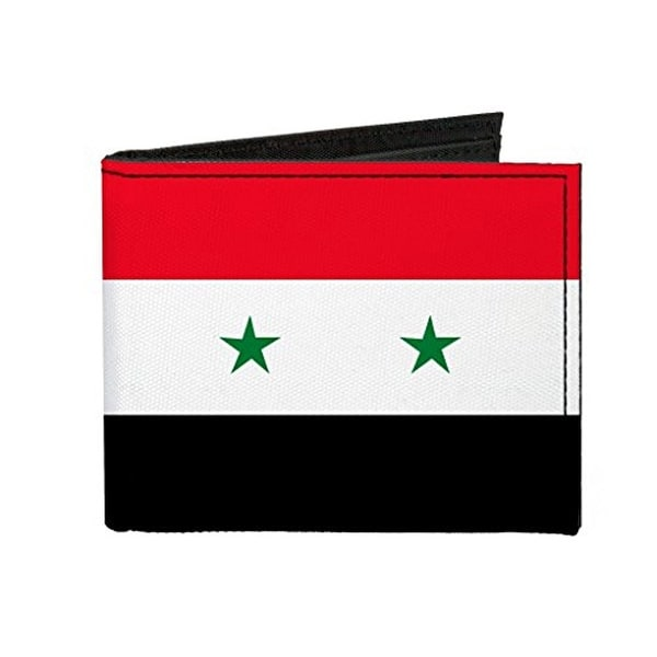 Buckle-Down Canvas Bi-fold Wallet - Syria Flag Accessory