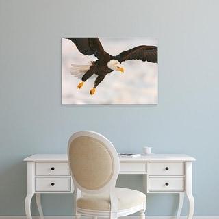 Easy Art Prints Jaynes Gallery's 'Bald Eagle In Landing Posture' Premium Canvas Art