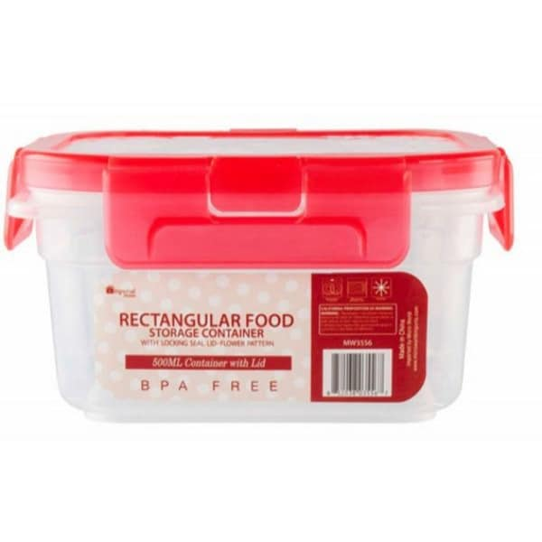 Rectangular Food Storage Container   500mL   24 Units