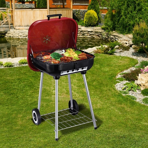 Outsunny Steel Portable Charcoal Barbecue Grill. Opens flyout.